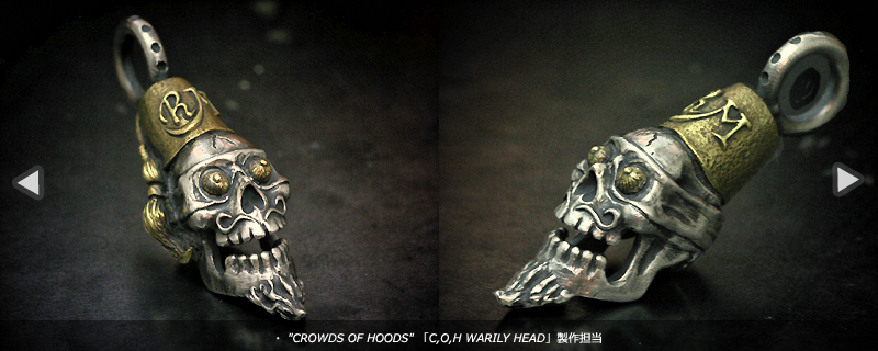 CROWDS OF HOODS LuckyRudy氏デザイン「C,O,H WARILY HEAD」製作担当